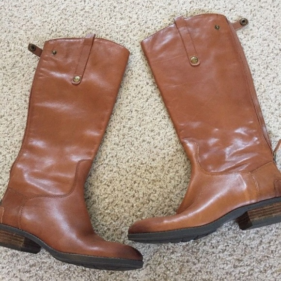 fe99e096a99a5 Sam Edelman  Penny  Whiskey Leather Mid-Calf Boots